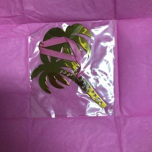 lilly pulitzer palm tree ornament